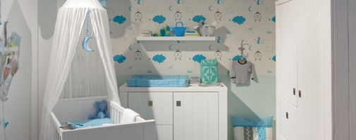 Babykamer behang