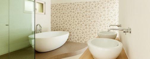 vliesbehang badkamer mogelijkheden, tips  inspiratie, Meubels Ideeën