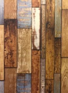 behang houtmotief