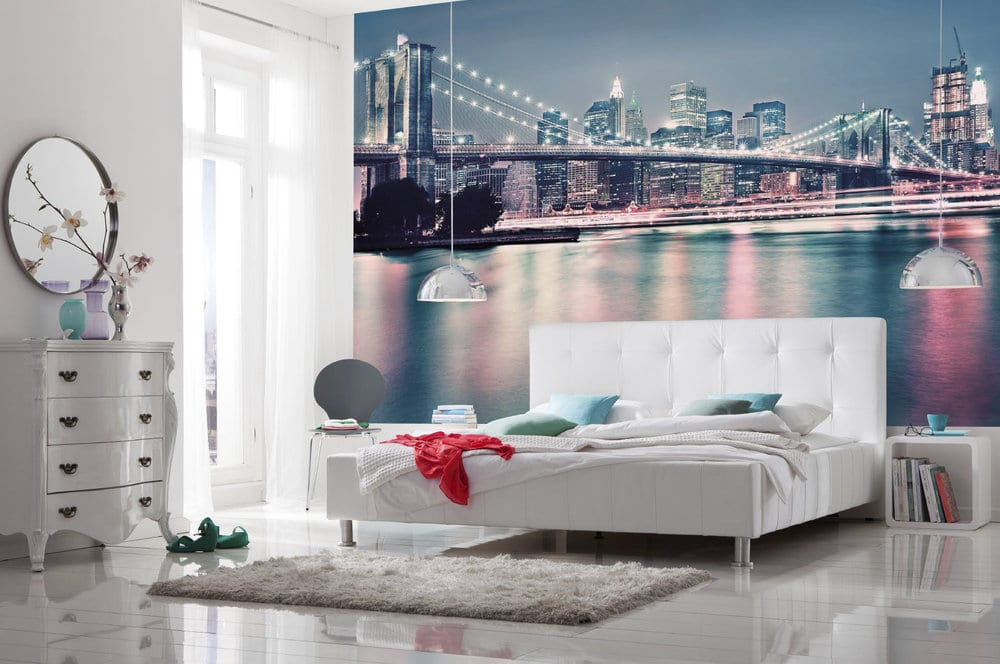 New York Behang Slaapkamer : Behangpapier in de slaapkamer: tips en ...