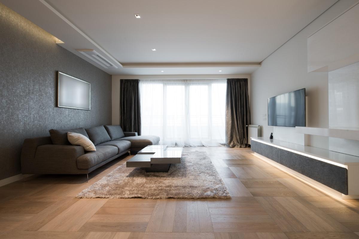 Behang woonkamer kiezen prijzen advies for Strakke woonkamer inrichting